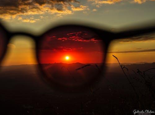Kostnadsfri bild av kvällssol, skymning, solbländning, solglasögon