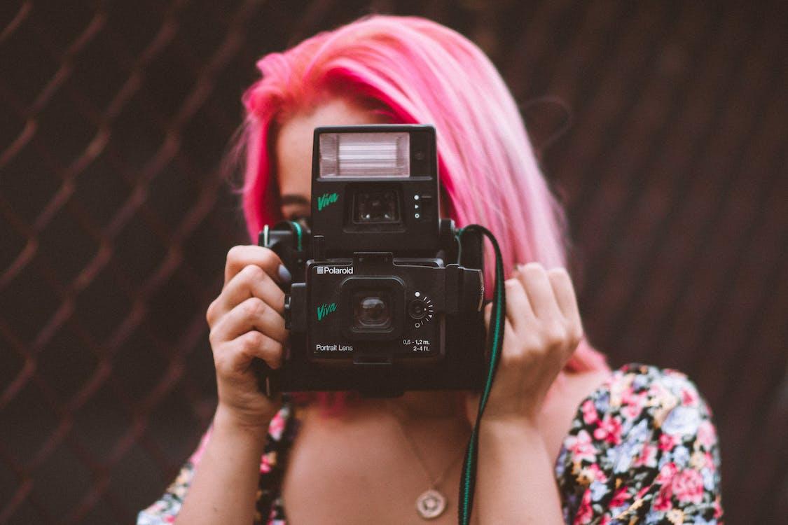 càmera, dona, electrònica