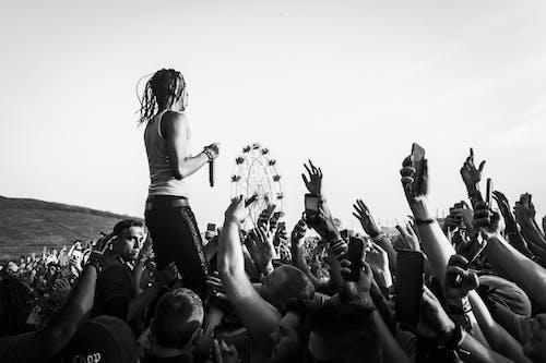 가수, 공연, 군중, 남자의 무료 스톡 사진