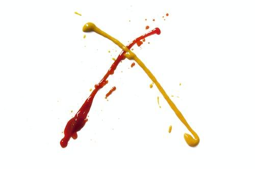 Ilmainen kuvapankkikuva tunnisteilla keltainen, ketsuppi, loiskutus