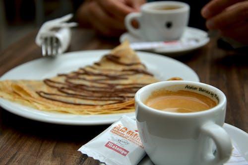 Free stock photo of black coffee, break, break time, cake