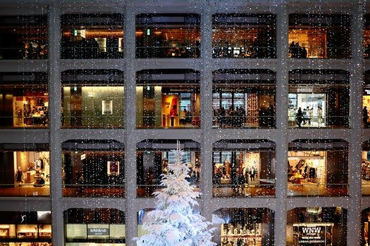 Free stock photo of building, shops, decoration, christmas