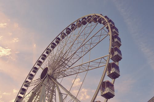 Free stock photo of ferris wheel, sky, sky blue