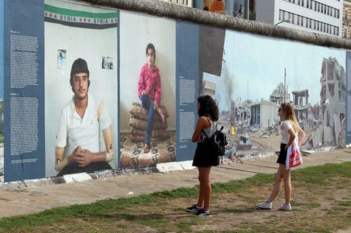Free stock photo of berlin war on wall exhibition