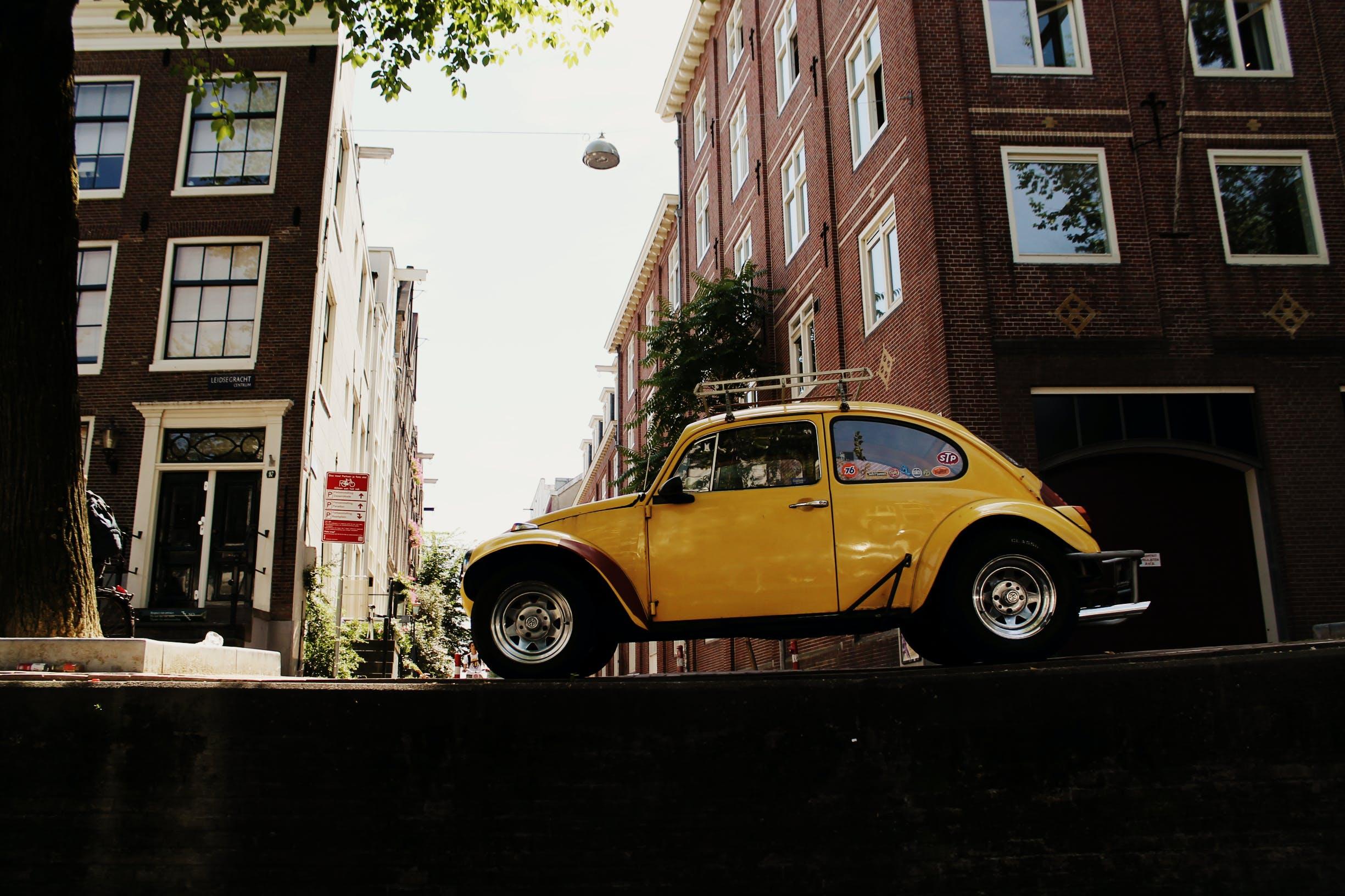 Free stock photo of yellow car