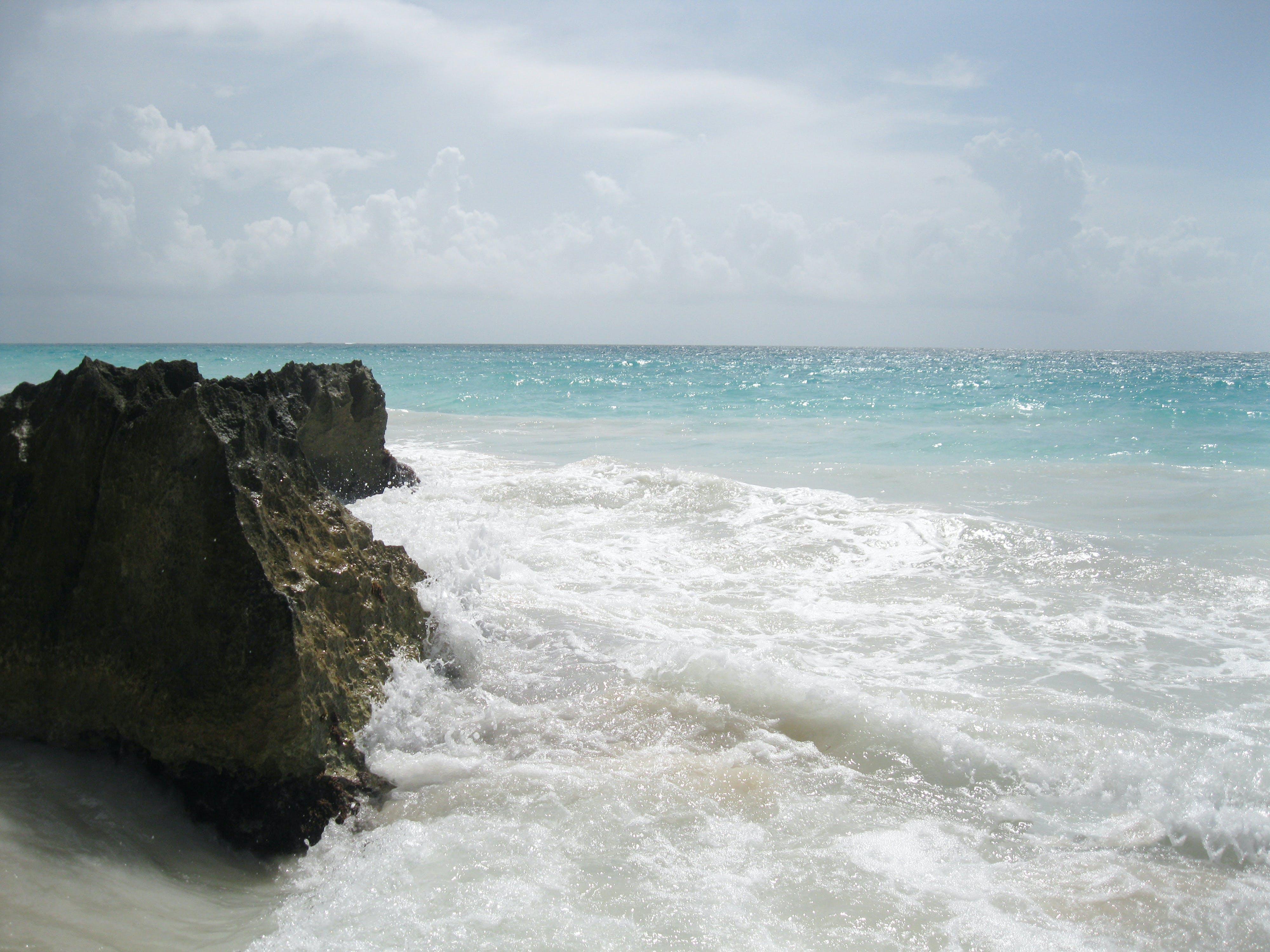 Free stock photo of beach, sand, water, rock