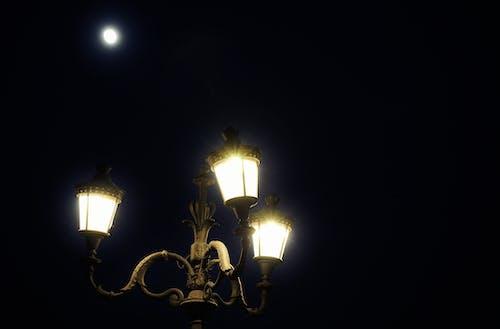 ay, Dolunay, gece, ışıklar içeren Ücretsiz stok fotoğraf