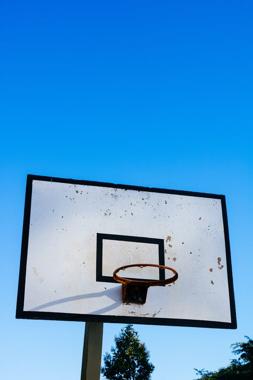 White And Black Basketball Court