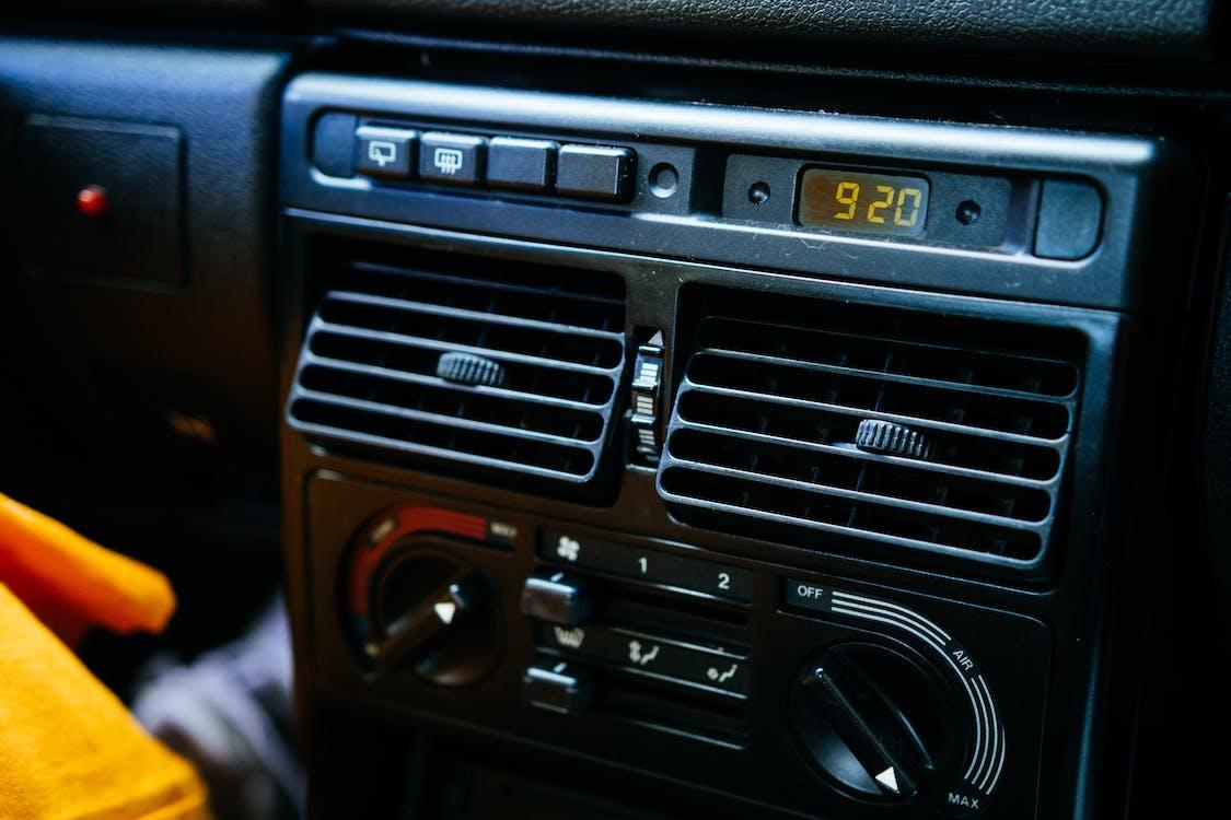 Black 1-din Car Stereo Head Unit