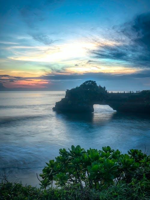 คลังภาพถ่ายฟรี ของ ซิลูเอตต์, ตะวันลับฟ้า, ทะเล, ท้องฟ้า