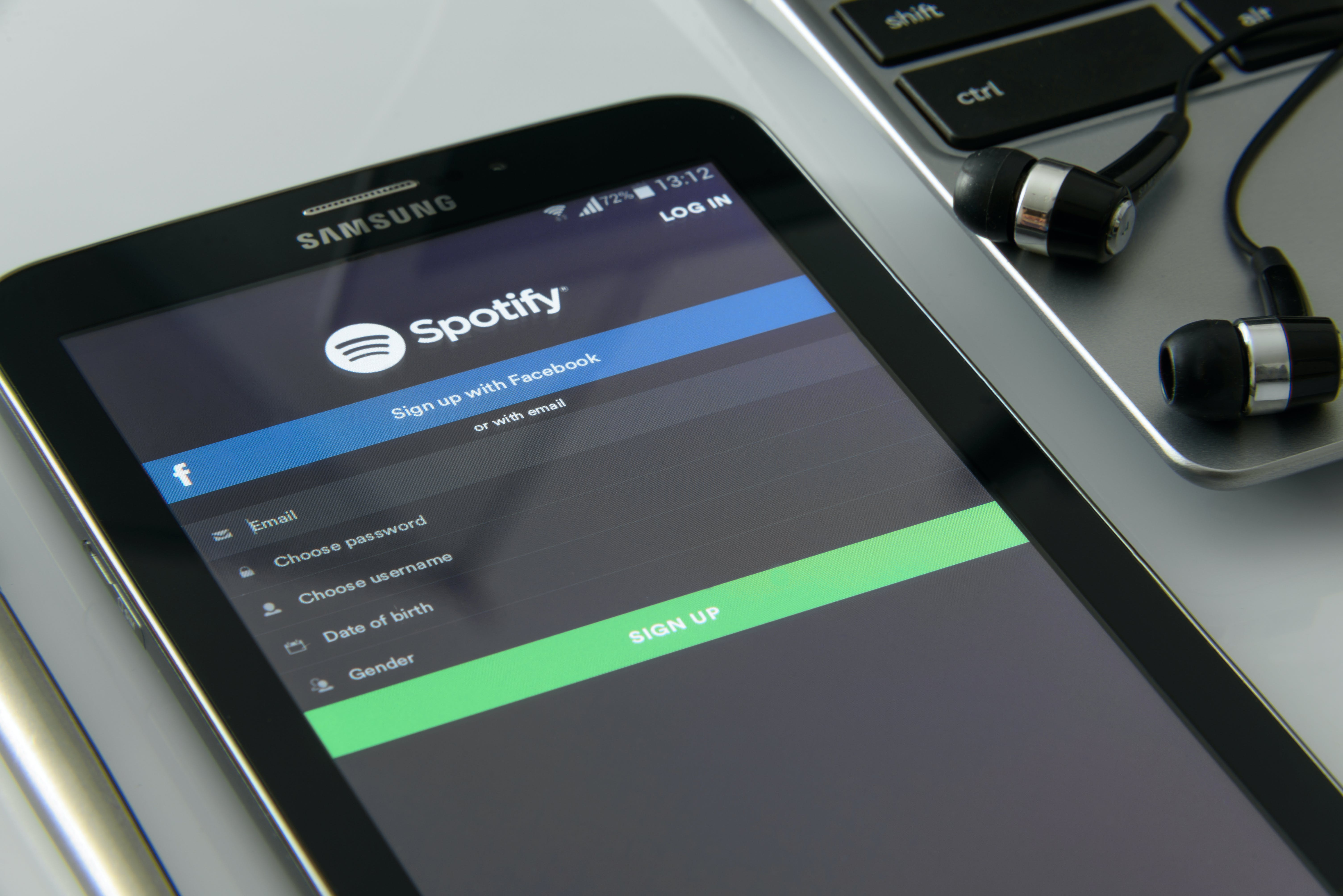 Black Samsung Galaxy Tab