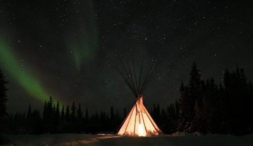 Darmowe zdjęcie z galerii z gwiazdy, kanada, namiot, natura