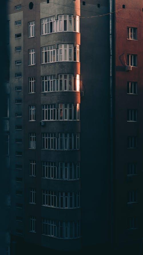 建築, 日落 的 免费素材照片