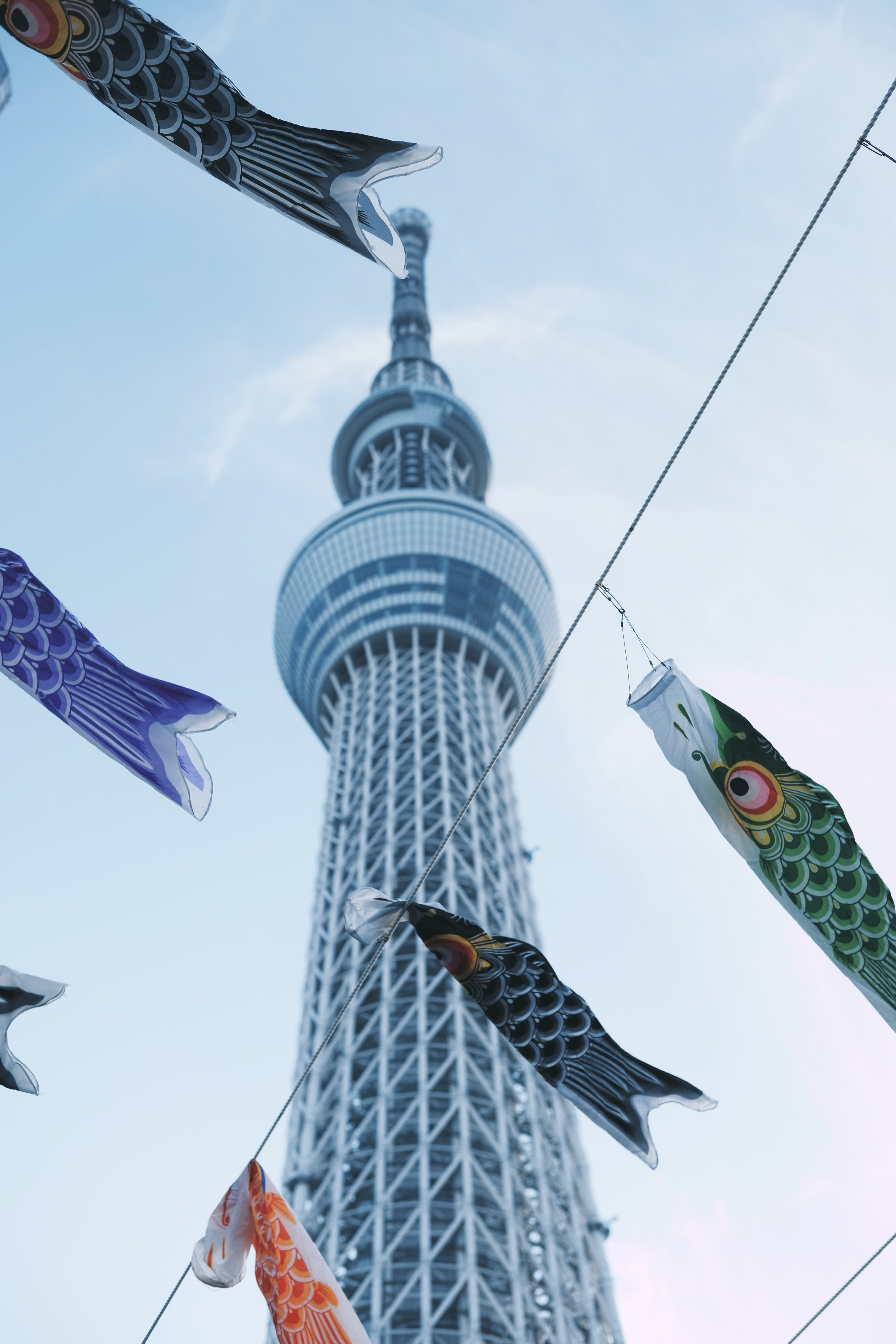Low Angle Photography of the Tokyo Skytree