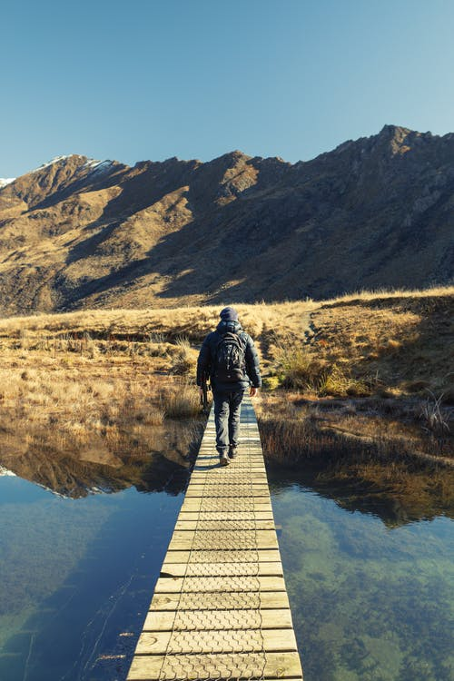 landscape, photographer, reflection