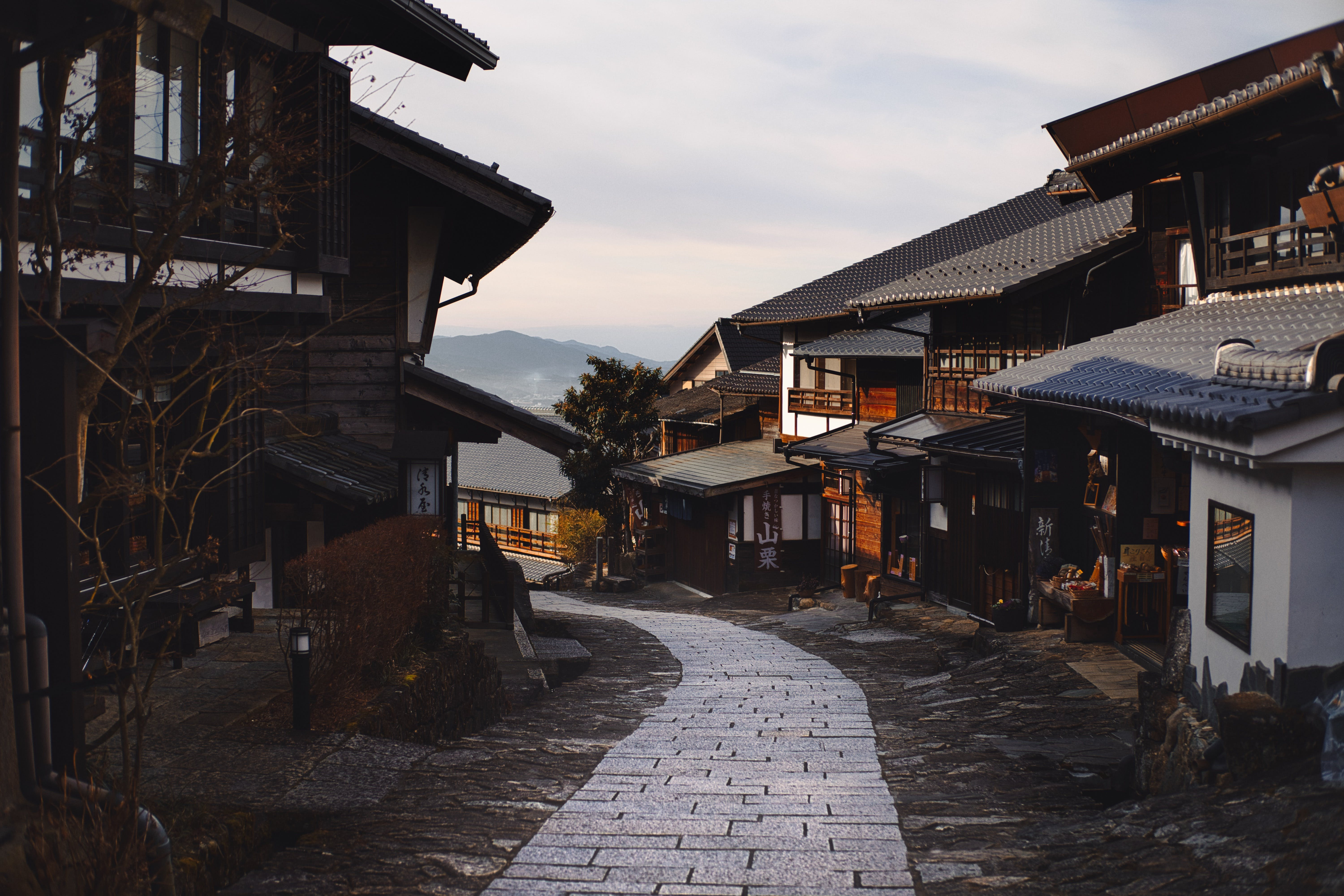 Pathway Between Traditional Houses