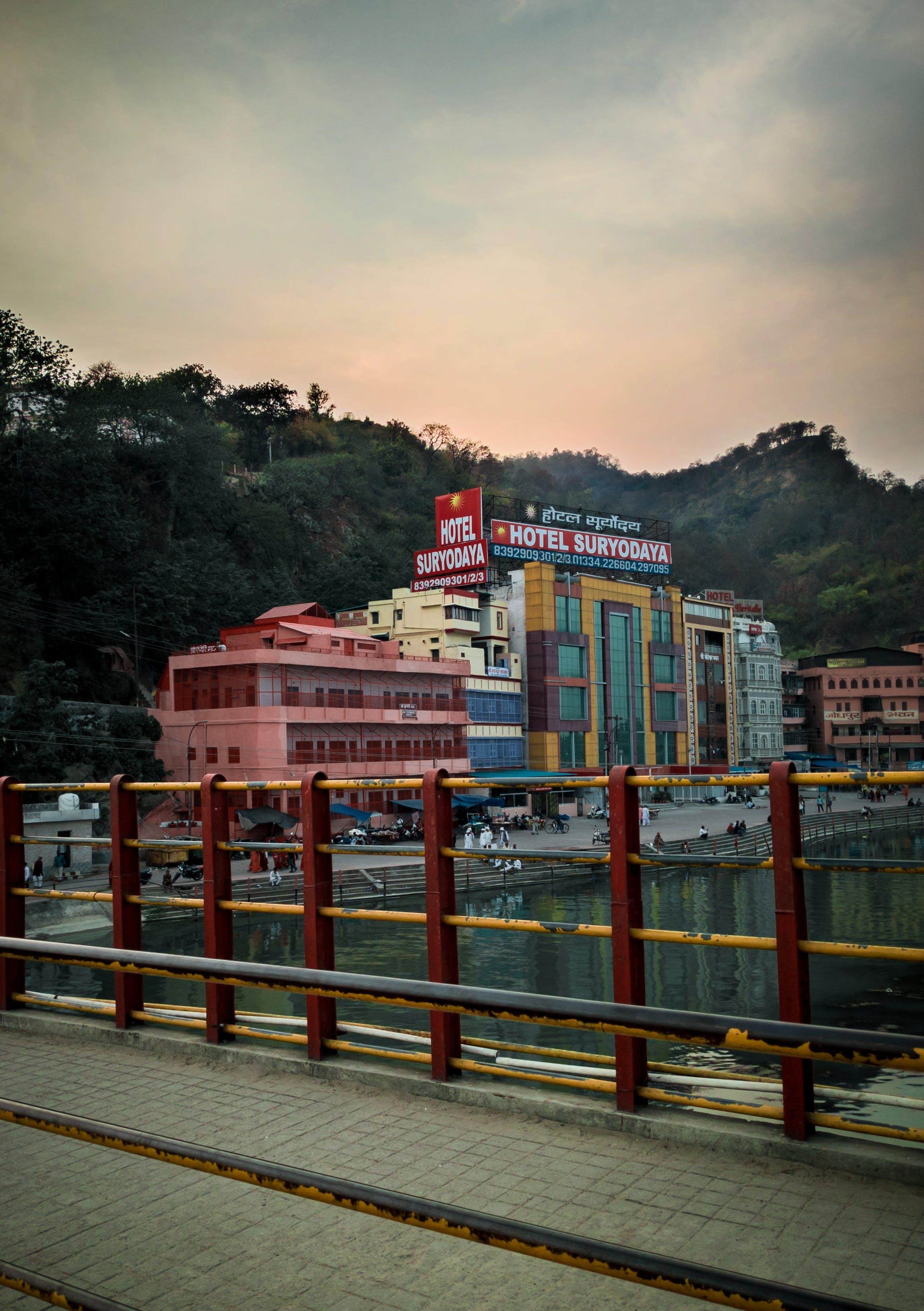 Free stock photo of building, evening, evening sky, Ganga Arti