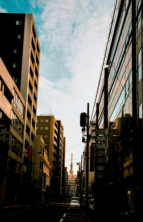 Kostnadsfri bild av byggnader, gata, himmel, japan