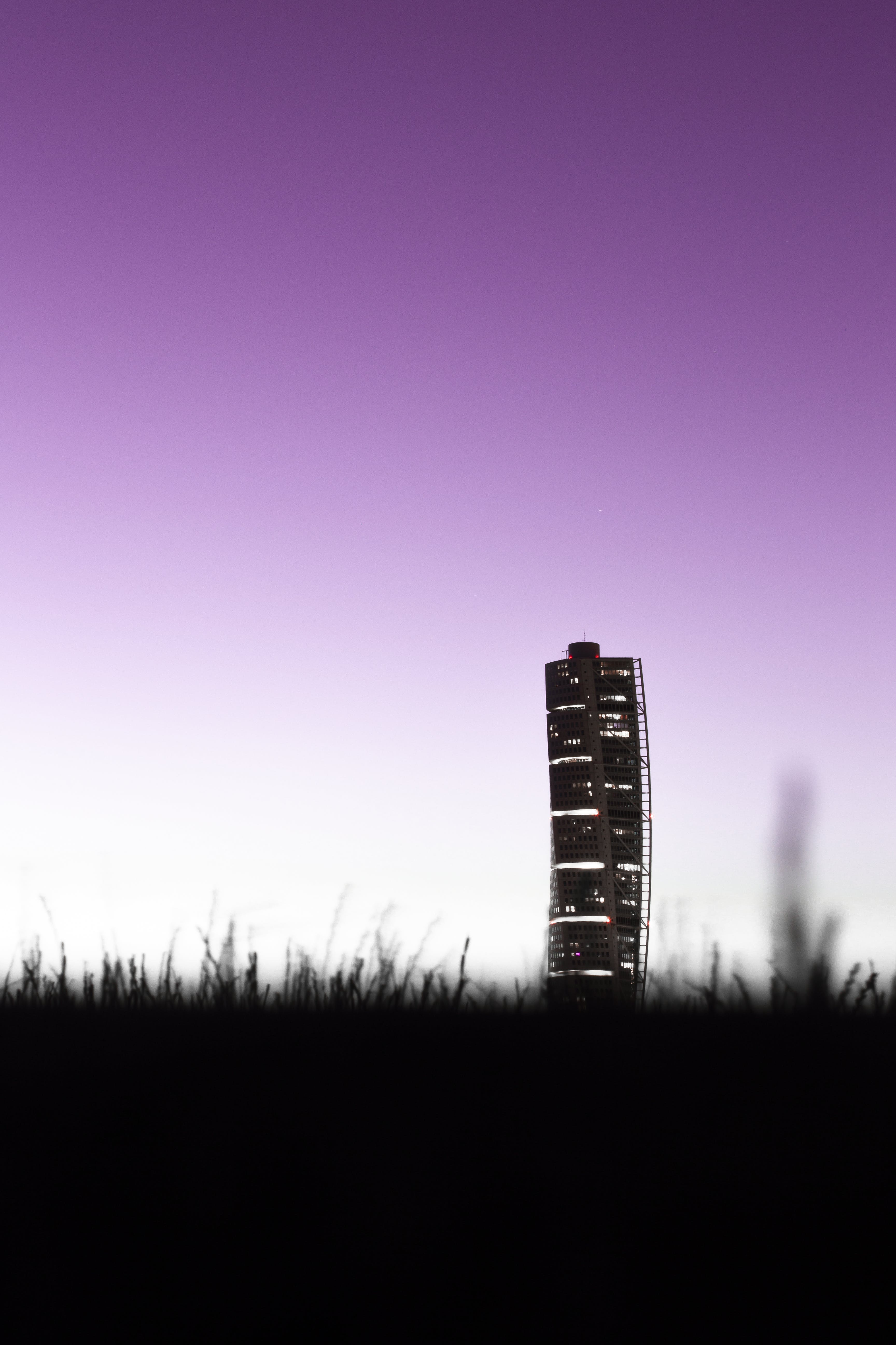 Silhouette of High Rise Building