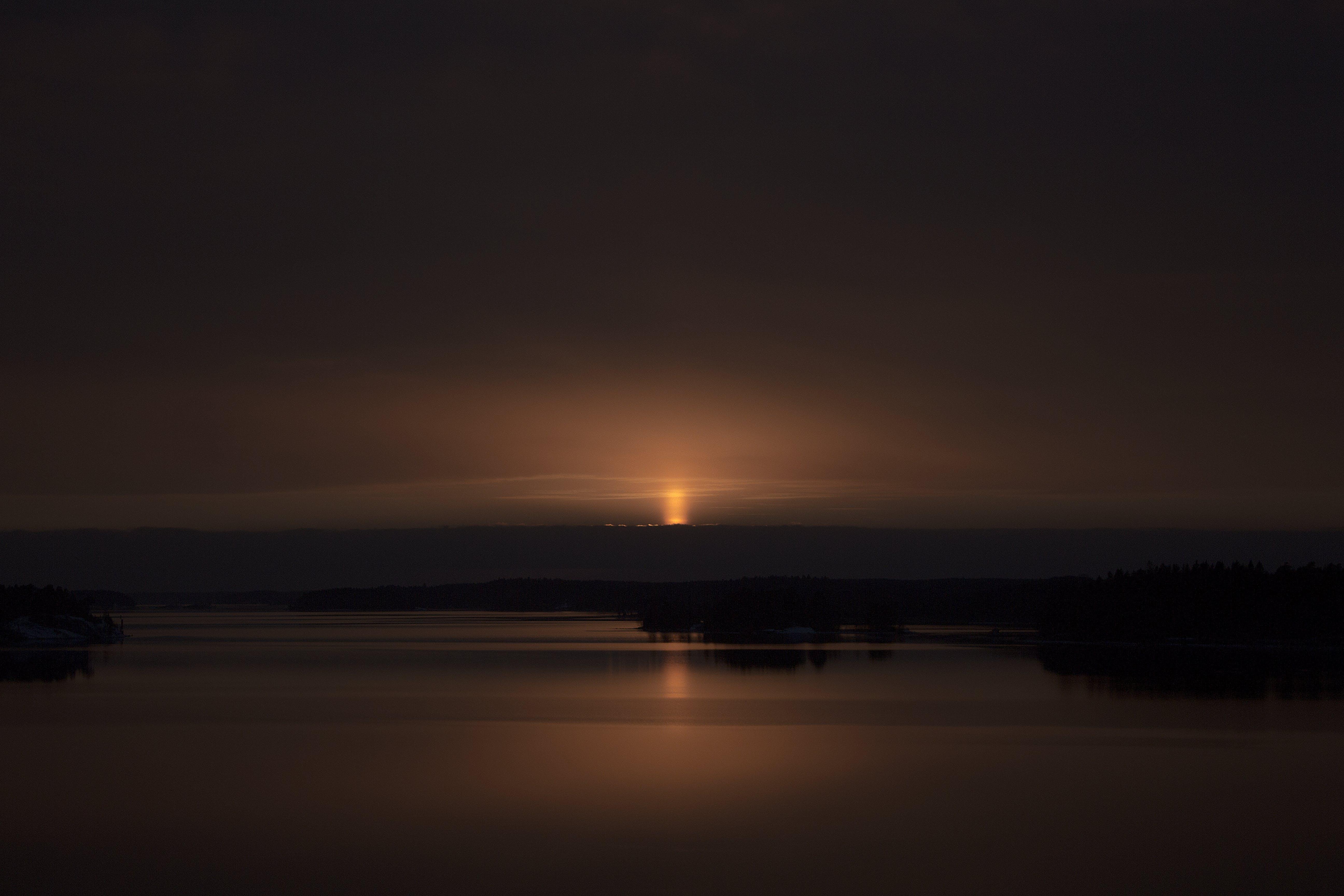 Free stock photo of archipelago, dark, orange color, sunset