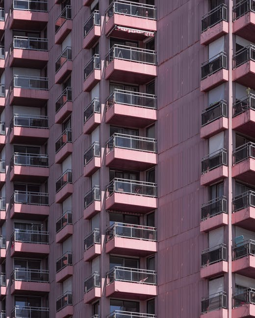 Pink high rise building