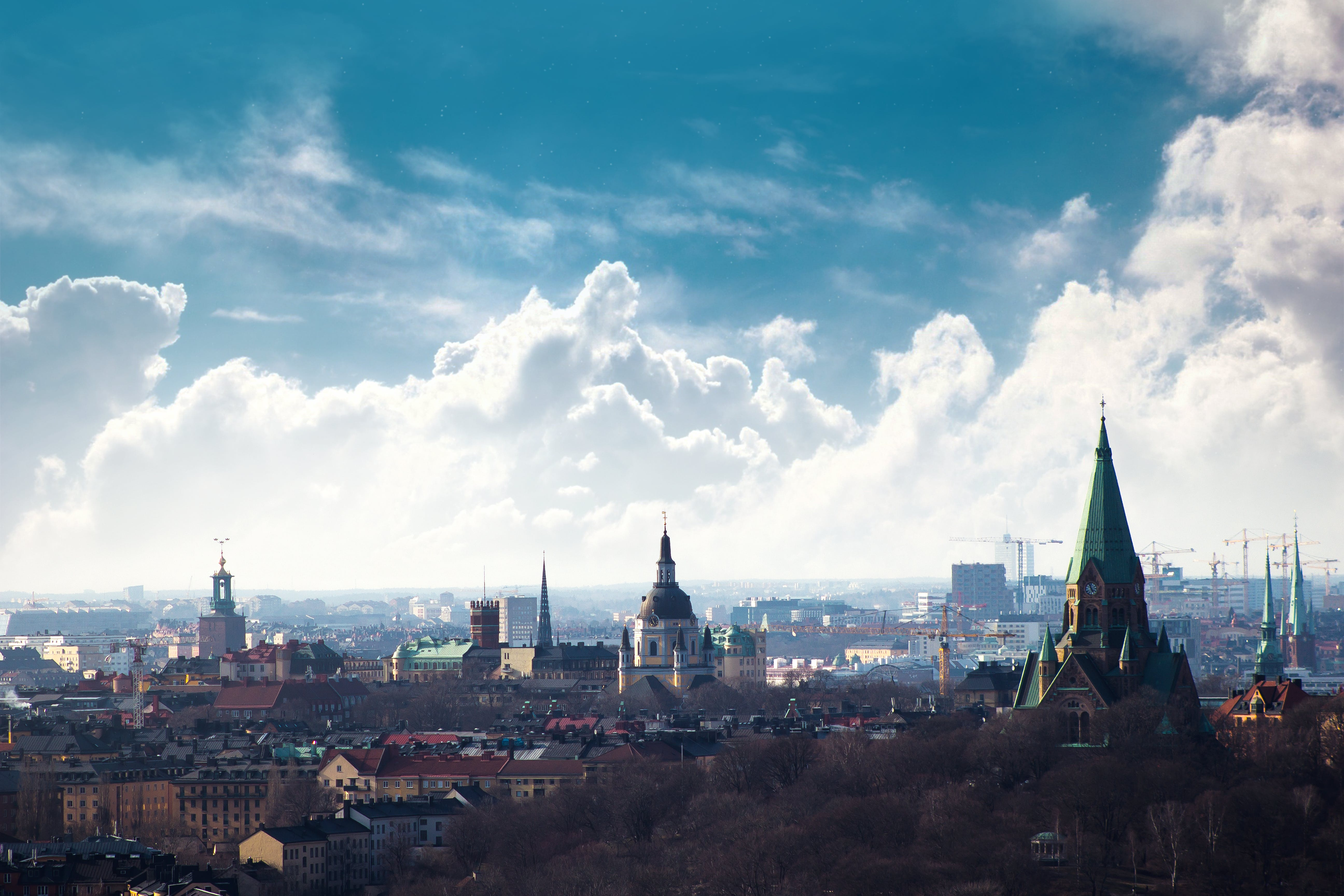 Free stock photo of city scape, clouds, scandinavia, stockholm