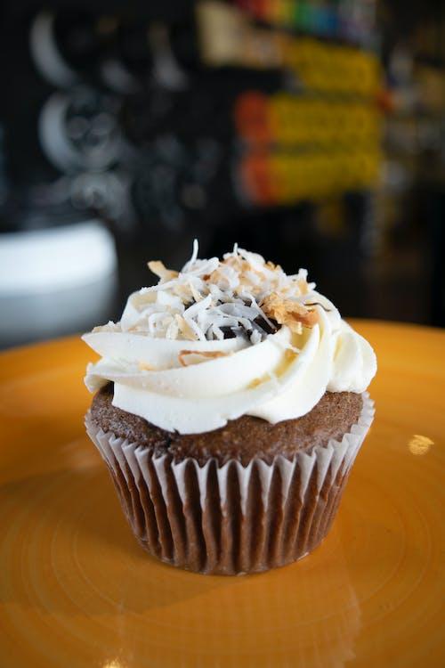 Ingyenes stockfotó csokoládé, csokoládés muffinok, cukorbevonat, cukormáz témában