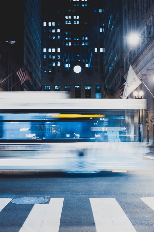 Panning Photography Of Bus