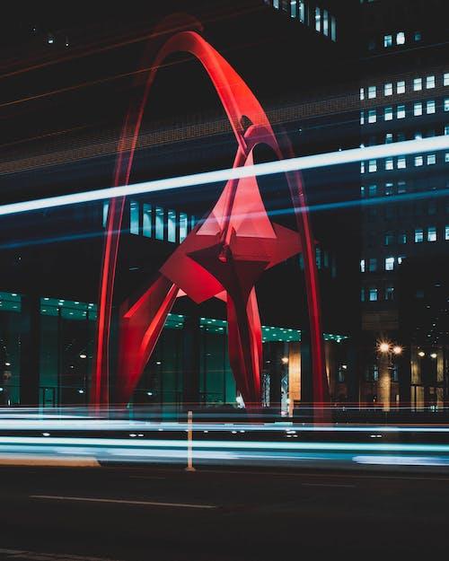 光跡, 光迹, 城市, 城市景觀 的 免费素材照片
