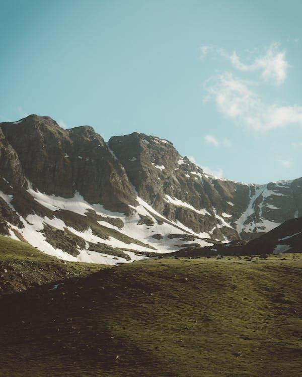 bane, bjerg, dagslys