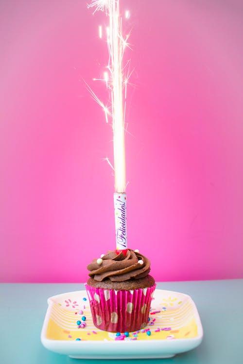 bursdag, cupcake, delikat