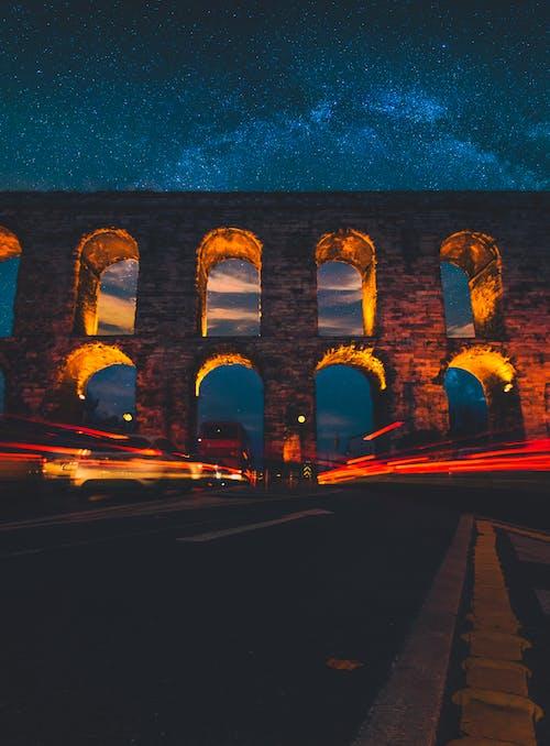 คลังภาพถ่ายฟรี ของ กลางคืน, กลางแจ้ง, การจราจร, การท่องเที่ยว