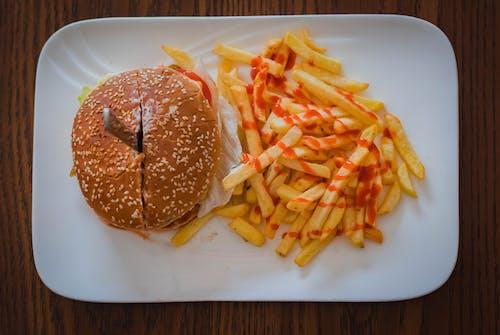 Gratis lagerfoto af Hamburger, mad