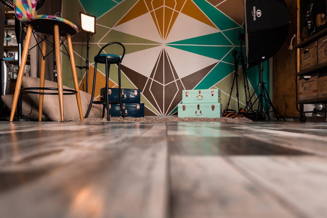 Low Angle Shot Of A Studio