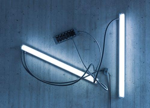 抽象藝術, 燈泡, 蓝色调 的 免费素材照片