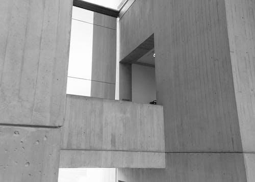 Gratis arkivbilde med arkitektur, bygning, minimalistisk, svart-hvitt
