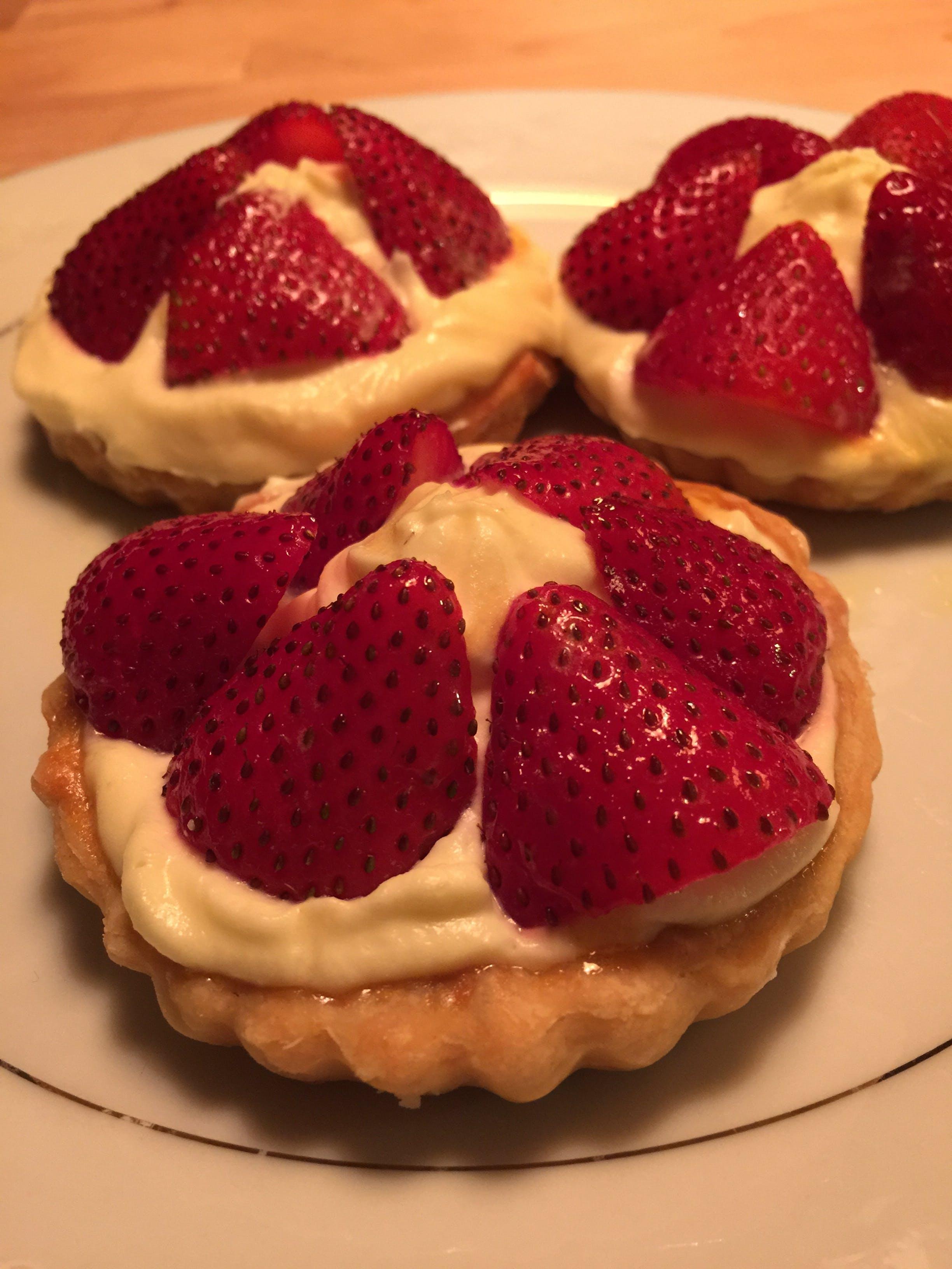 Free stock photo of dessert, pastry, strawberries, tarts