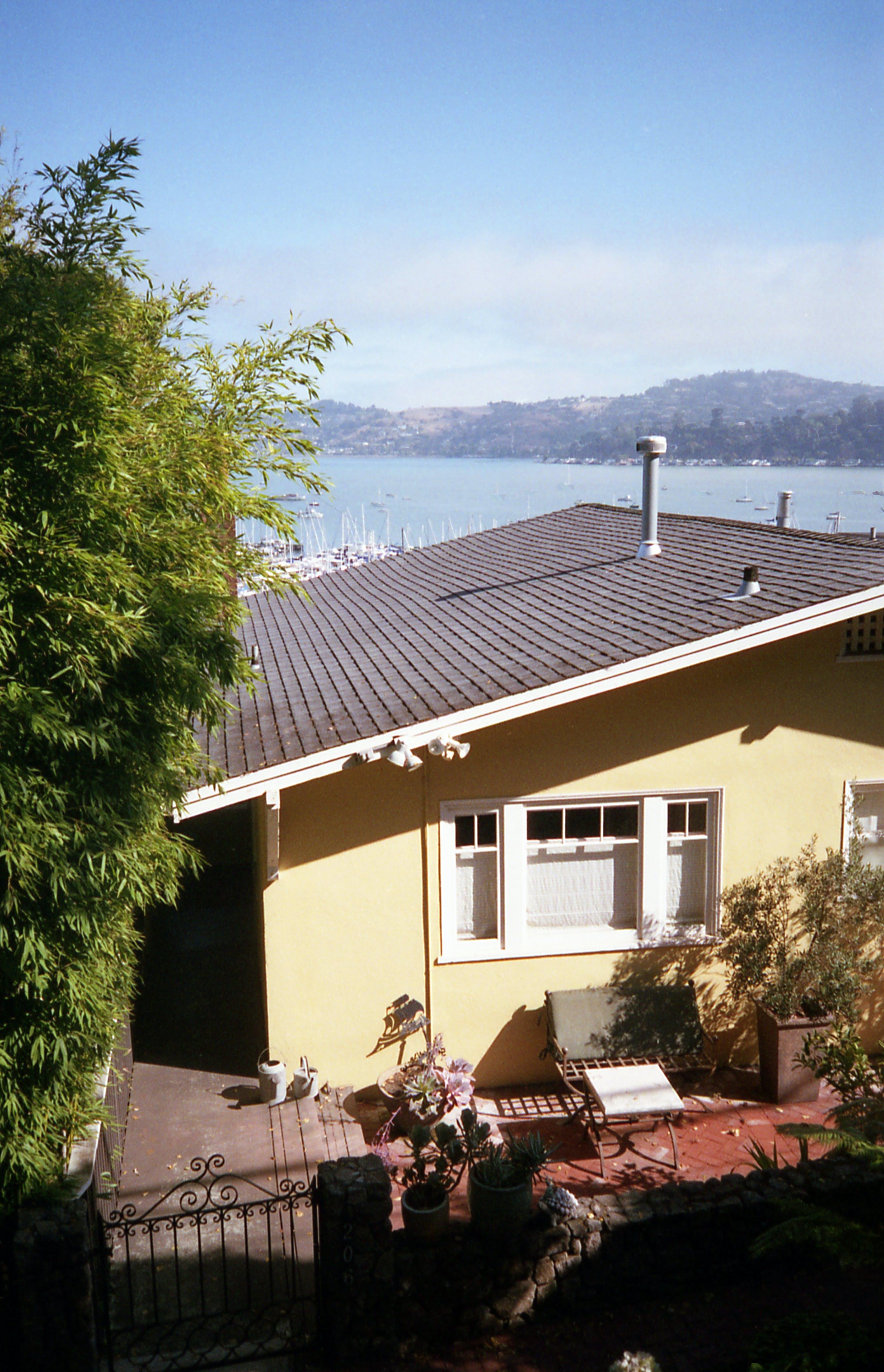 Beige Concrete House Near Sea