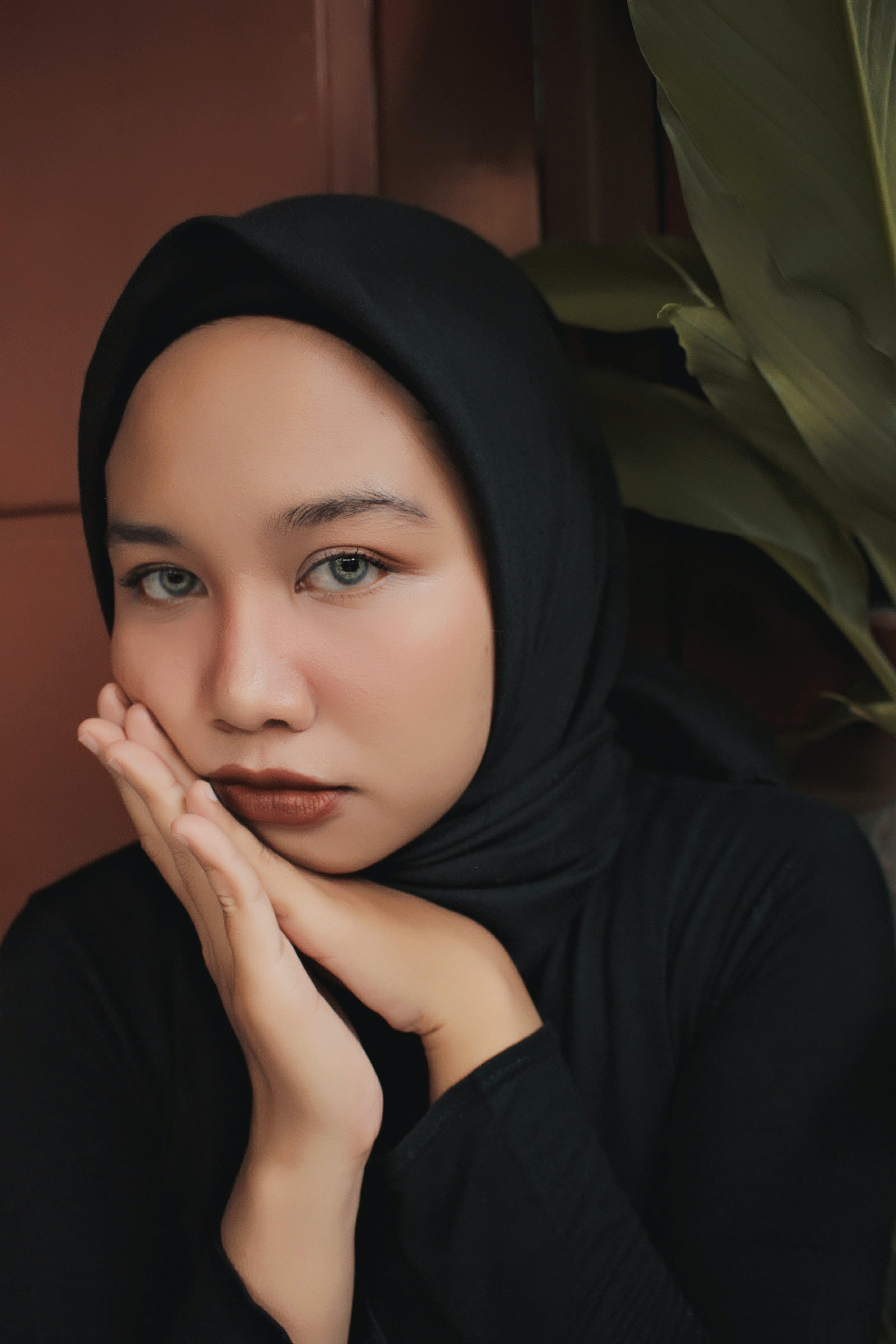 Unknown Celebrity Wearing Black Hijab Headdress