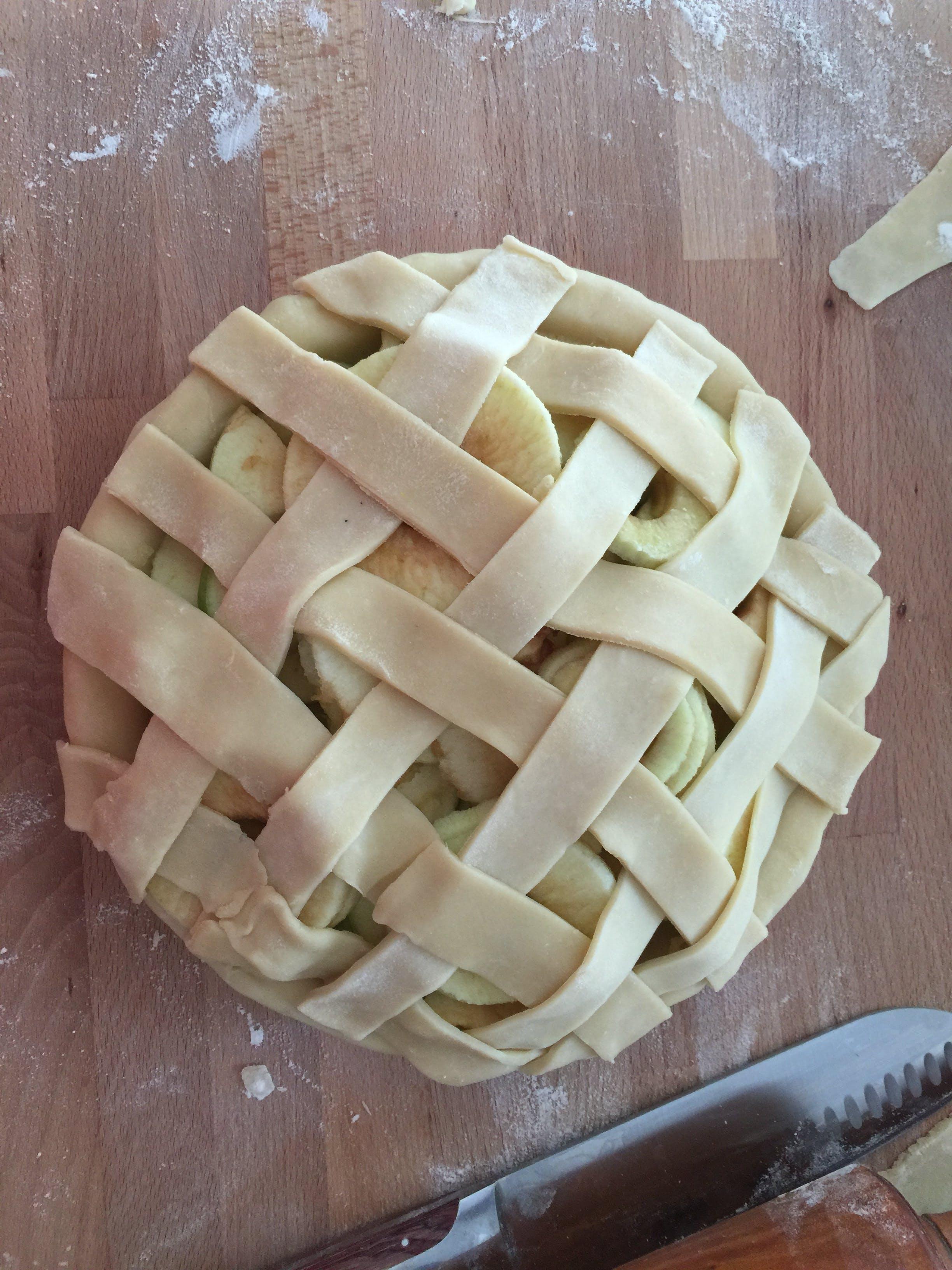 Free stock photo of apple pie, bakery, baking, crust