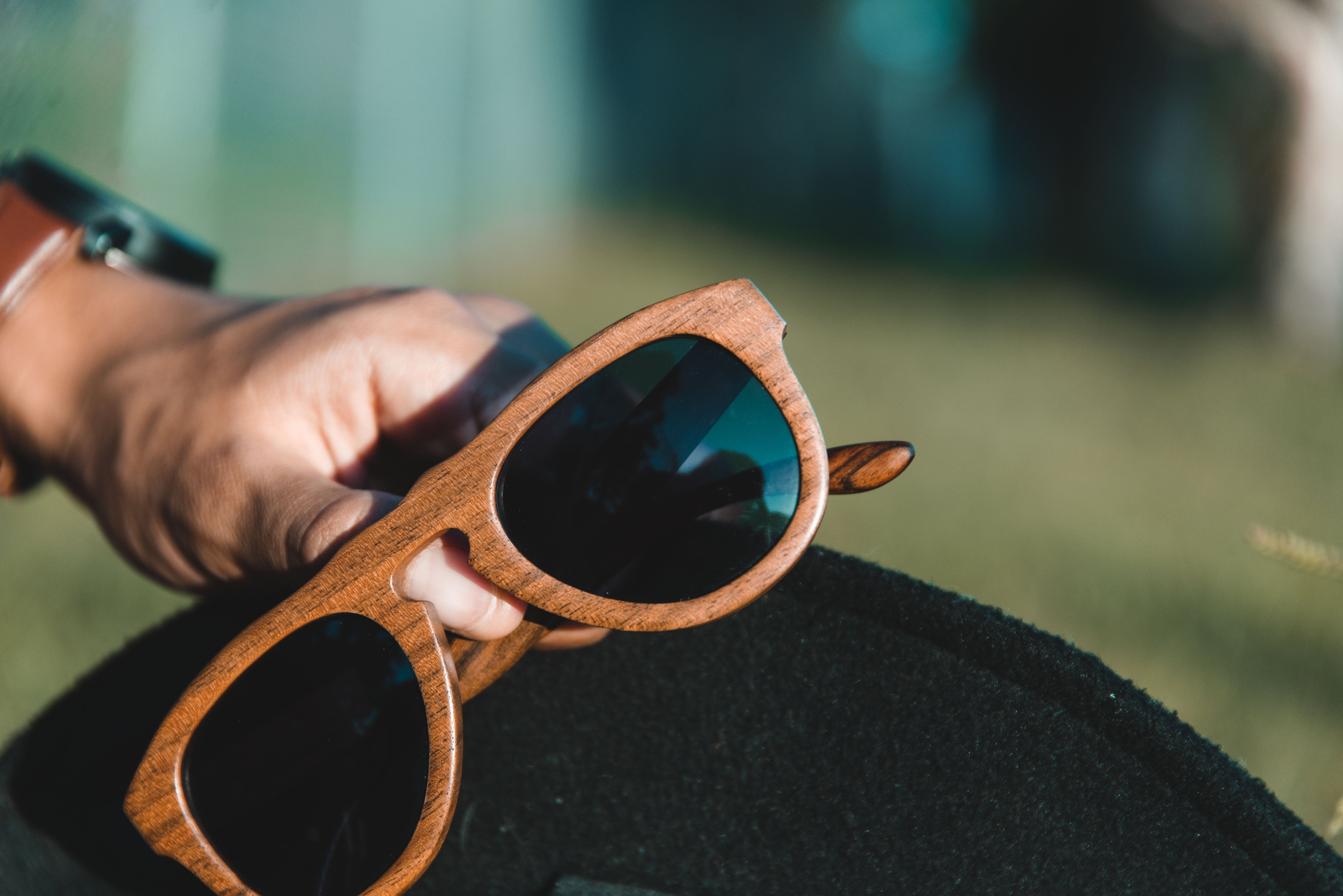 Free stock photo of hat, sun glasses, watch