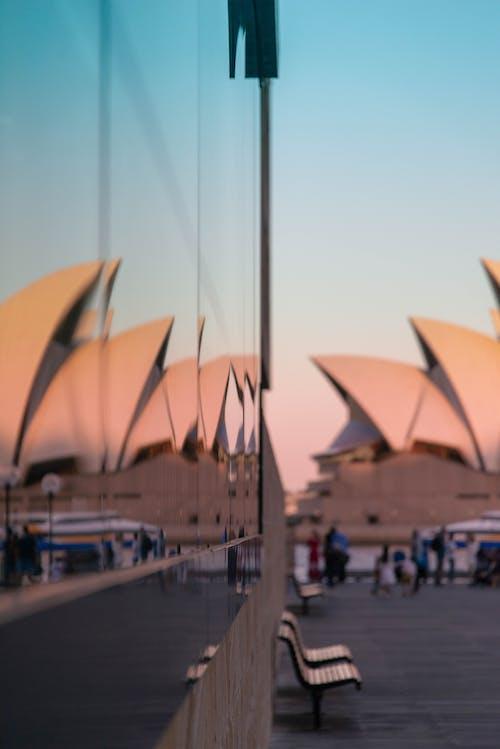 反射, 城市, 建造, 歌劇院 的 免費圖庫相片