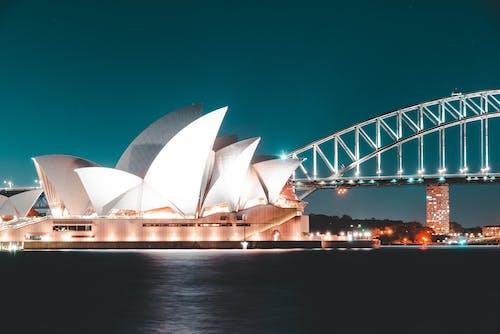 Kostenloses Stock Foto zu architektur, architekturdesign, australien, beleuchtet