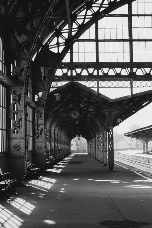 Architectural Photography of a train station