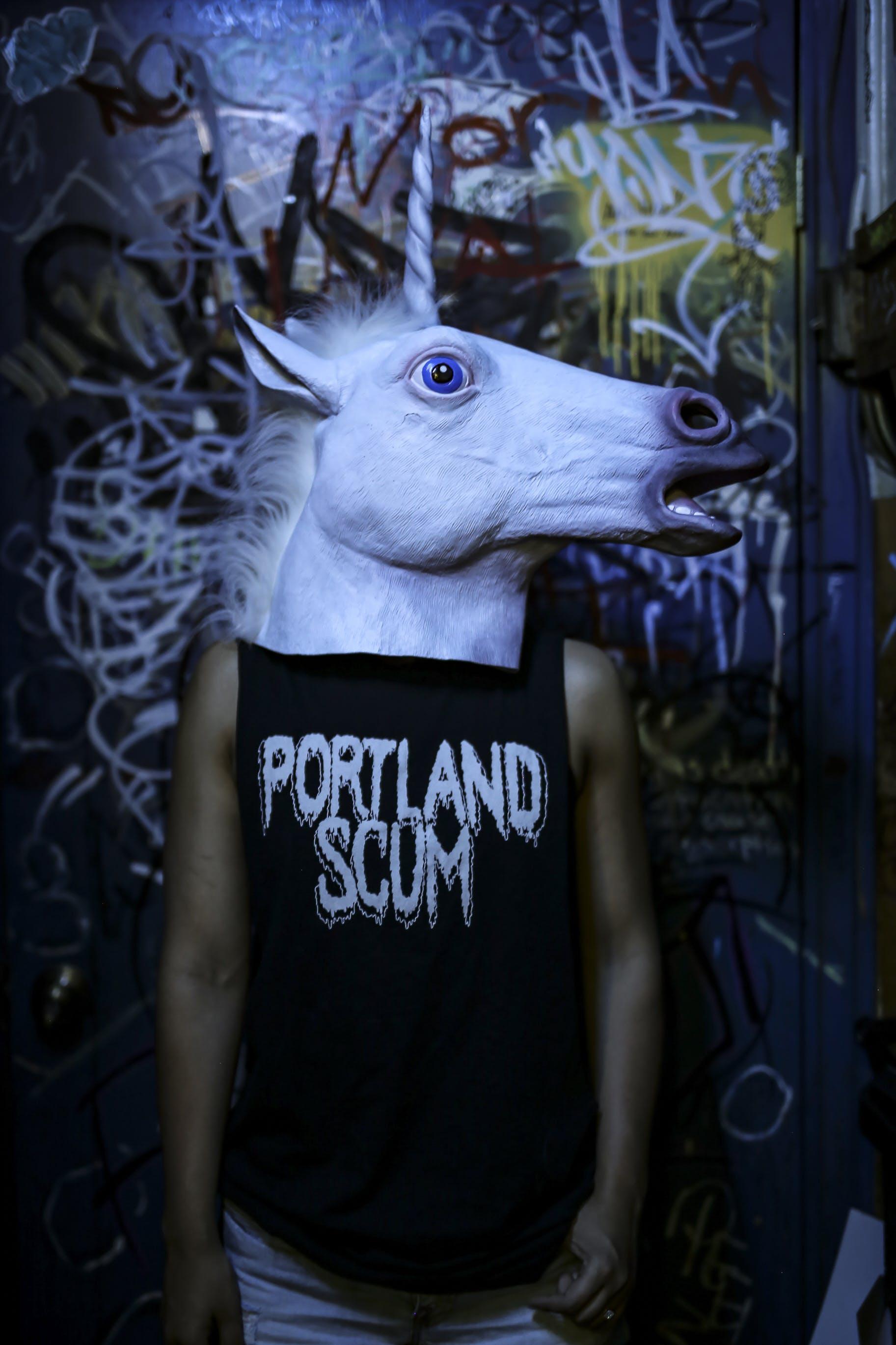 Základová fotografie zdarma na téma černé tričko, focení, graffiti, jednorožec