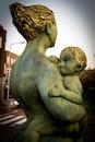 art, statue, child
