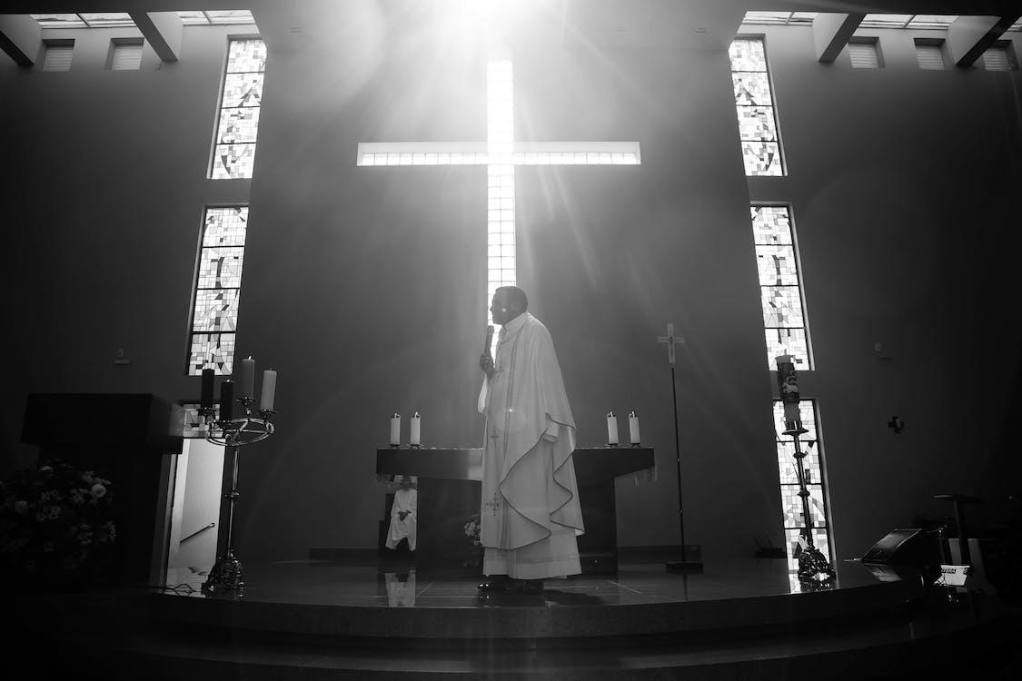 architettura, bianco e nero, chiesa
