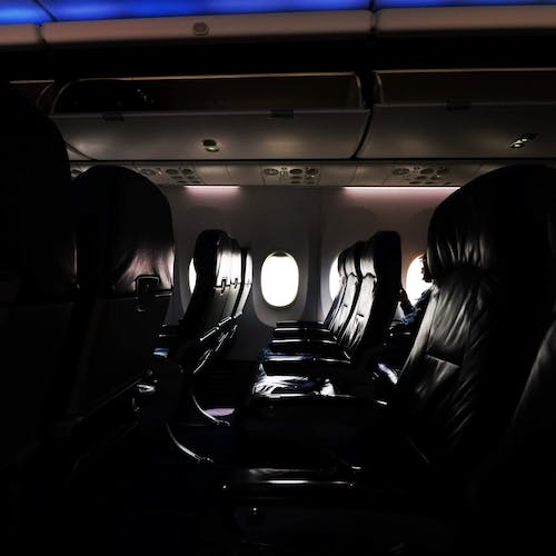 Free stock photo of airplane, airplane window, airplanes, rows of seats