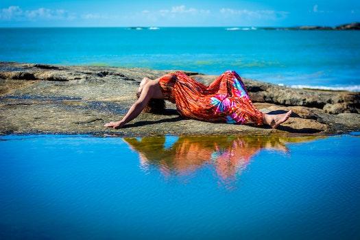 Free stock photo of sea, landscape, person, beach