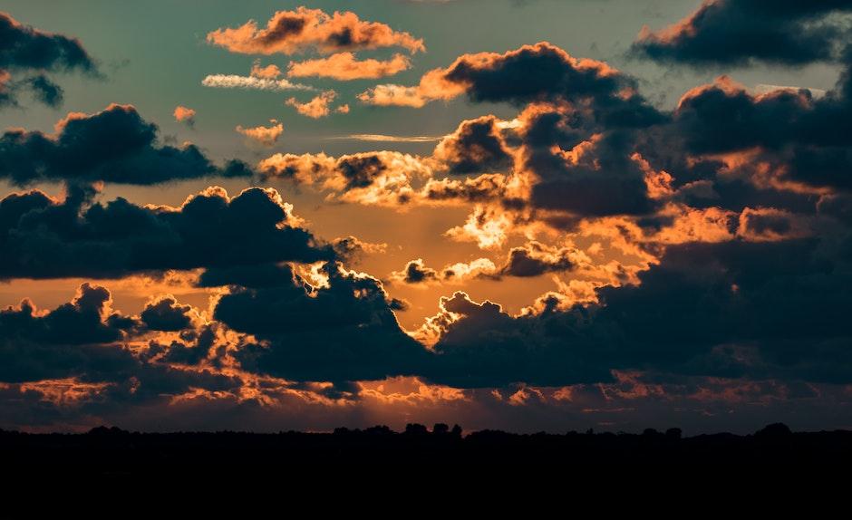 backlit, clouds, dawn